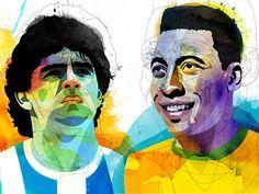 Maradona versus Pele'