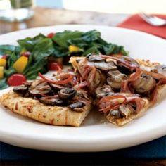 Mushroom-Prosciutto Pizza