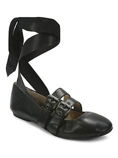 0fdacc33a284 Luxury Rebel - Sari Lace-Up Nappa Leather Ballet Flats