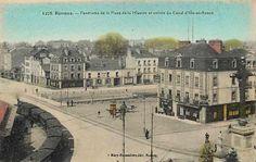 RENNES - Panorama de la PLace de la Mission et entrée du Canal d'Ille-et-Rance