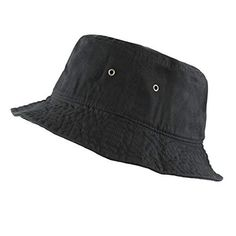 f19d2c1498d4a Buy THE HAT DEPOT Youth Kids Washed Cotton Packable Bucket Travel Hat Cap.  Explore our