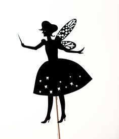 Tooth Fairy shadow puppet. $12.00, via Etsy. So awesome! From artist Owly Shadow Puppets