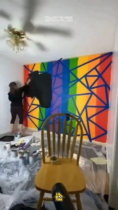 Cute Bedroom Decor, Diy Wall Decor, Pop Art Decor, Decoration, Home Wall Painting, Diy Painting, Homemade Home Decor, Home Room Design, Mural Art