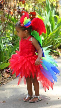parrot tutu/ parrot tutu dress/ parrot costume/ rainforest