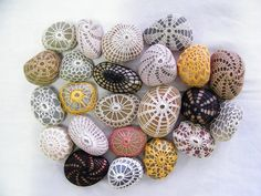 Crochet Pebbles/would look cute in a bowl on coffee table