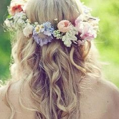 ... wear some flowers in your hair