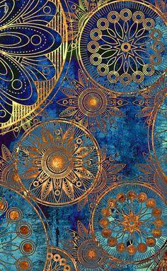 Celestial Mandalas wallpaper by - - Free on ZEDGE™ Arte Chakra, Art Fractal, Molduras Vintage, Creation Art, Art Design, Art Plastique, Islamic Art, Textures Patterns, Indian Patterns