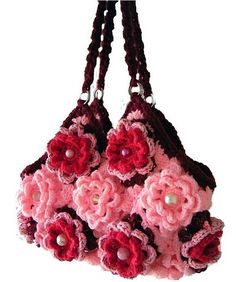 my fascination with granny square bags and flowers