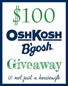 Osh Kosh B'Gosh GIVEAWAY