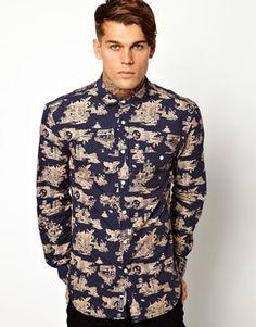 Cuckoos Nest Shirt in All Over Oriental Print