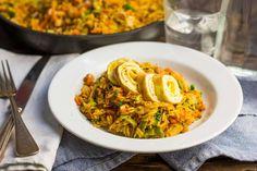 Nasi met ham en prei Risotto, Grains, Ethnic Recipes, Food, Essen, Yemek, Meals