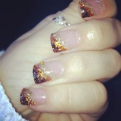 Autumn nail acrylic nail design, thanksgiving nails