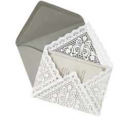 Handmade Lace Wedding Envelopes ~ make these pretty lace envelopes out of doilies!