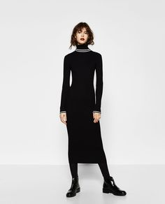 LONG RIBBED DRESS-DRESSES-WOMAN | ZARA United States