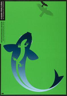 Claude Kuhn – Flossen, Füsse, Flügel    Poster for exhibition at Naturhistorisches Museum, Bern, 2007
