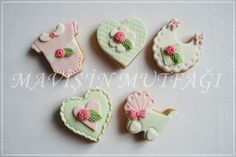 Mini boyda hazırlanmış butik kız bebek kurabiyeleri...