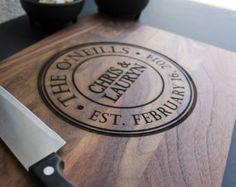 Personalized Cutting Board, Custom Cutting Board, Classic Monogrammed Cutting Board, Engraved cutting Board - 11 x 14 Walnut wood --6218