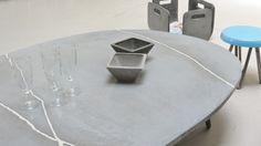 Table galet en béton , BbyNC