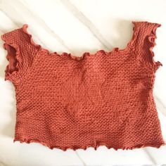 FREE PEOPLE / Copper Crop Top Gorgeous deep copper crop top. Perfect with a suede skirt or denim flare jeans for a vintage vibe. Fits size 4/6. Free People Tops Crop Tops