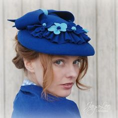Royal Blue Felt Hat