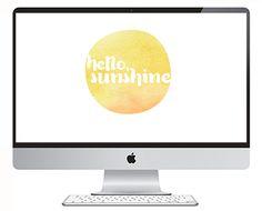 FREEBIES // HELLO, SUNSHINE - Oh So Lovely Blog