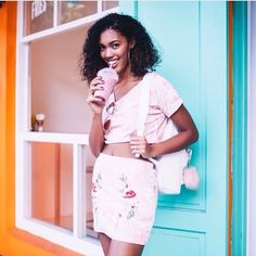 This cute two-piece is #pinkwednesday goals! Double tap if your idea of the perfect summer accessory is a smoothie  Rg: @joylakay #GLAMfashion  via GLAMOUR SOUTH AFRICA MAGAZINE OFFICIAL INSTAGRAM - Celebrity  Fashion  Haute Couture  Advertising  Culture  Beauty  Editorial Photography  Magazine Covers  Supermodels  Runway Models