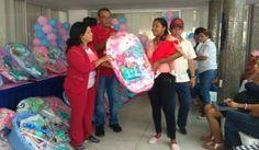 Fundación del niño entrego canastillas en casa abrigo de Caribe