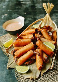 Coconut Firecracker Shrimp Recipe - The Woks of Life Vietnamese Cuisine, Vietnamese Recipes, Asian Recipes, Ethnic Recipes, Appetizer Recipes, Shrimp Recipes, Dinner Recipes, Appetizers, Firecracker Shrimp