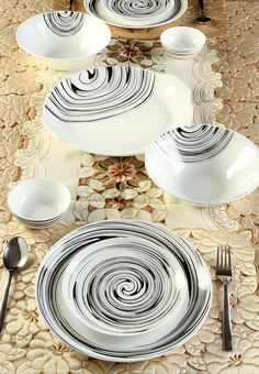 Clay Craft Urmi 21 Pcs Dinner Set -  | Jabong.com [CL171HO00YBRINDFAS]