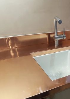 natural antiqued zinc kitchen worktops with sink taps.html