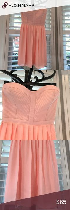 NWT Parker pink strapless dress size M Darling chiffon dress with lining , solid front some stretch in the back. Parker Dresses Strapless
