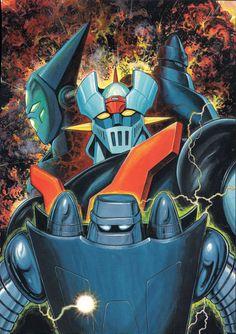 Mazinger Z & Getter Robo by Ken Ishikawa