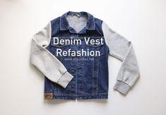 Denim Vest Refashion Diy Tops, Refashion, Diy Clothes, Wordpress, Vest, Denim, Jackets, Handmade Clothes, Down Jackets