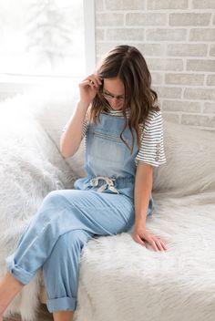 Avery Mauve, Blue Denim, Nursing, Mom Jeans, Rompers, Model, Cotton, Collection, Tops
