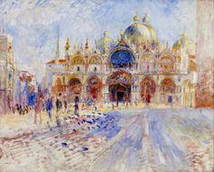 Trademark Fine Art 'The Piazza San Marco Venice' Canvas Art by Renoir, Size: 35 x Multi-color Canvas Wall Art, Art Prints, Fine Art, Renoir Paintings, Painting, Painting Prints, Renoir Art, Art, Canvas Art