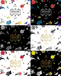 DUTCH COFFEE flowers pattern package 더치커피 꽃 패턴 패키지 on Behance