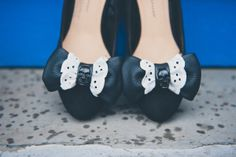 LEATHER BOW SKULL SHOE CLIPS - DIY TUTORIAL