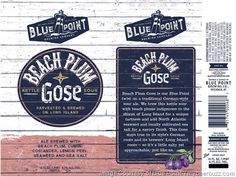 mybeerbuzz.com - Bringing Good Beers & Good People Together...: Blue Point Adding Beach Plum Gose 16oz Cans