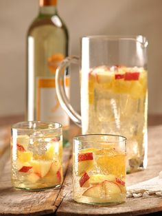 Celebrate summertime with this delicious white Sangria. It's refreshing with a hint of apple and pineapple. Yum!