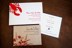 Love the invitations! You have so much to work with by having lobsters in Maine. Jealous!