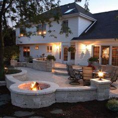 Stamped concrete patio area