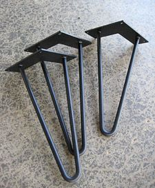 Hairpin Legs Metal Table Stainless Steel Custom Furniture