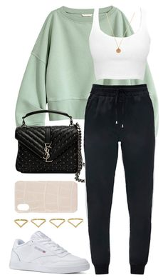"""Untitled #399"" by naomiariel ❤ liked on Polyvore featuring Yves Saint Laurent, Ana Khouri, Reebok and The Case Factory"