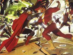 Kingdom Come: Superman Vs Captain Marvel - visit to grab an unforgettable cool 3D Super Hero T-Shirt!