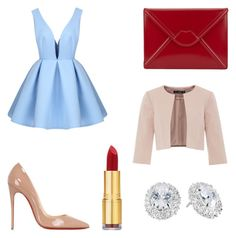 """Untitled #13"" by izzie-phillips on Polyvore featuring Christian Louboutin, Lulu Guinness, Isaac Mizrahi, Kate Spade and Hallhuber"