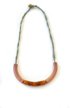 ceramic necklace ceramic jewelry floral nature par colortreasures
