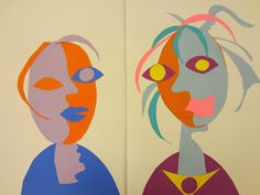 Second graders giggled and laughed when I showed them several of Picasso's portraits. After explaining to them that he used multiple viewpo...