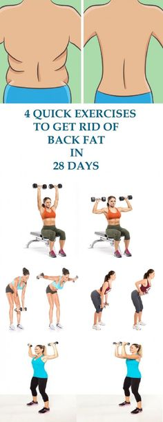 These 4 exercises for the back will eliminate the fat from your back in a very short time. The starting position for all 4 exercises is with pound dumbbells in each hand and feet shoulder-width apart. - Tap the pin if you love super heroes too! Fitness Workouts, At Home Workouts, Fitness Tips, Fitness Motivation, Health Fitness, Exercise Workouts, Exercise Routines, Fitness Plan, Fitness Goals