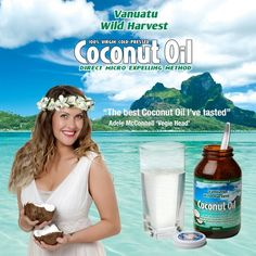 "Vanuatu Wild Harvest Coconut Oil  ""The best coconut oil I've tasted"" -  Adele McConnell - Vegie Head www.greennutritionals.com.au"