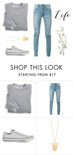 """""""I'm a warrior, and I'm stronger than I've ever been"""" by bishop9799 ❤ liked on Polyvore featuring Blair, Yves Saint Laurent, Converse, Gorjana and Pier 1 Imports"""